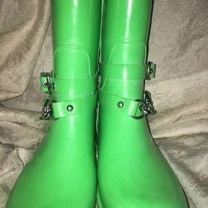 Coach Shoes - COACH ' LORI' Rain Boots 7B